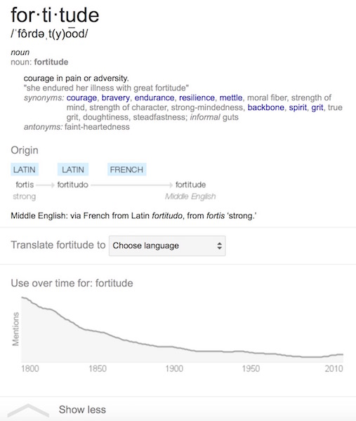 fortitude definition